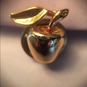 Jewelry - Golden Apple Brooch